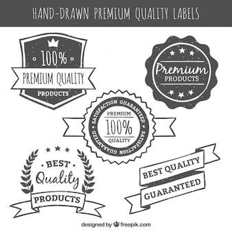 ヴィンテージスタイルで手描きのプレミアム品質のラベル