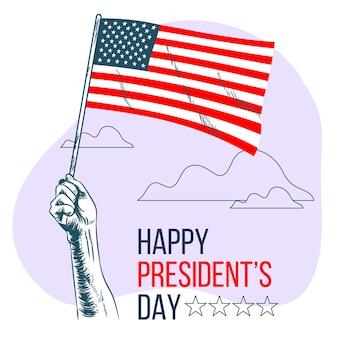 手描きの大統領の日