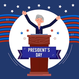 Hand drawn president's day