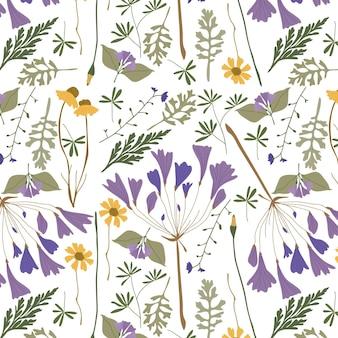 Ручной обращается шаблон прессованные цветы