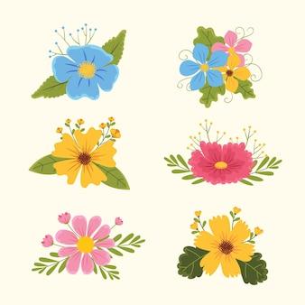 Hand drawn pretty flower collection