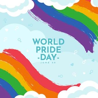 Hand drawn pride day flag illustration
