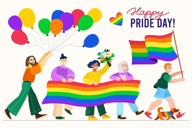 Нарисованная рукой иллюстрация дня гордости