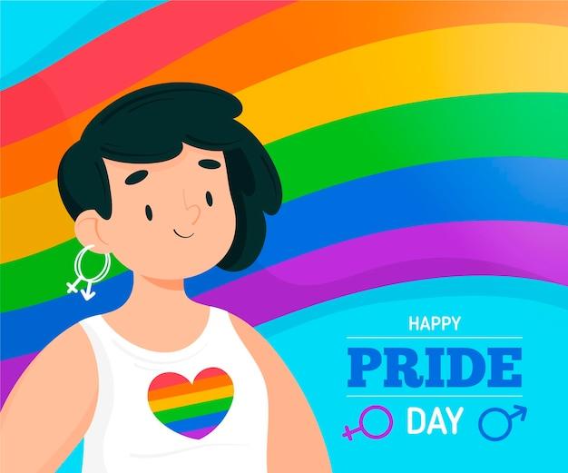 Illustrazione disegnata a mano del giorno dell'orgoglio