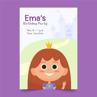 Ручной обращается шаблон приглашения на день рождения принцессы