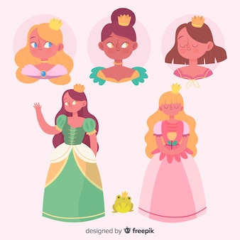 Hand drawn princess collection