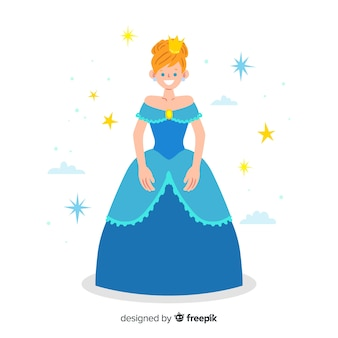 Hand drawn princess illustration
