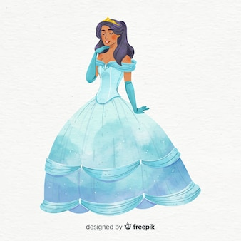 Hand drawn princess illustration
