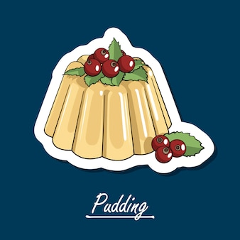 Hand-drawn pudding