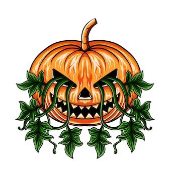 Hand drawn pumpkin halloween
