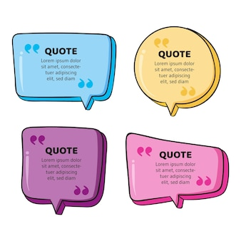 Hand drawn quote box frame collection