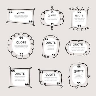 手描き引用ボックスフレームコレクション