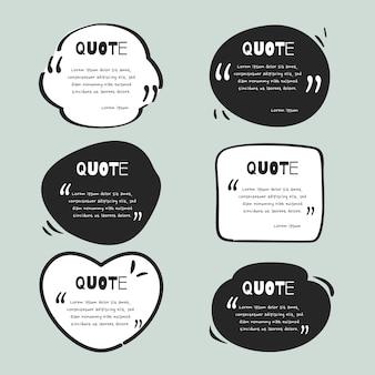 Коллекция рисованной цитаты