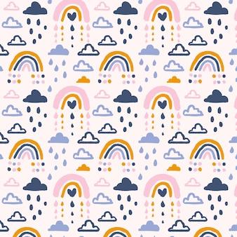 手绘彩虹图案设计