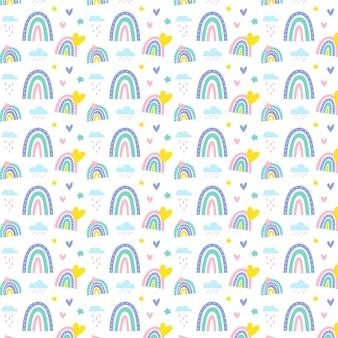 Ручной обращается дизайн радуги