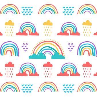 Hand drawn rainbow pattern