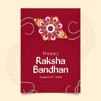 Cartolina d'auguri disegnata a mano di raksha bandhan