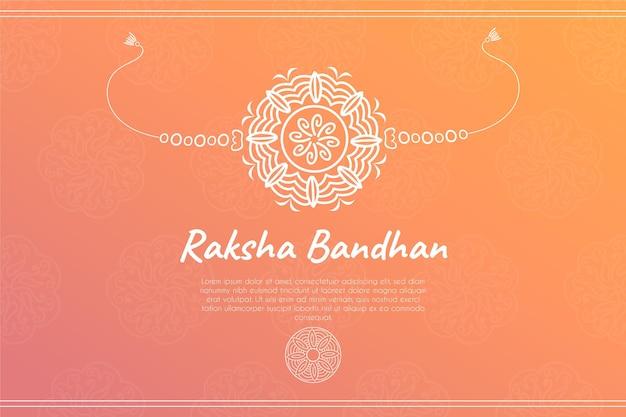 Ручной обращается ракша бандхан иллюстрация с украшением