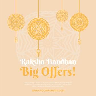 Vendite disegnate a mano di raksha bandhan