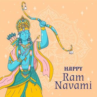 Hand-drawn ram navami event
