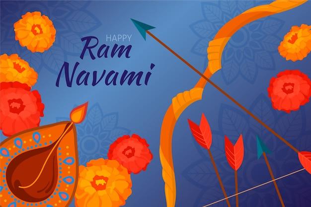 Hand drawn ram navami