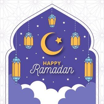 Hand-drawn ramadan concept