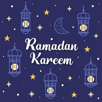 Ручной обращается рамадан концепция
