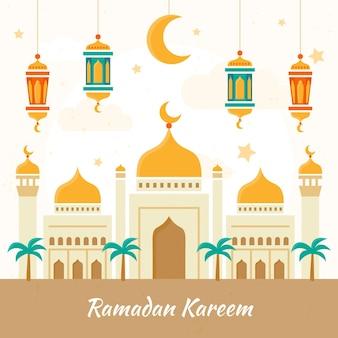 Нарисованная рукой иллюстрация рамадана карима