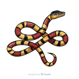Hand drawn realistic snake background