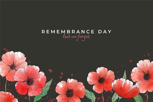 Hand drawn remembrance day background