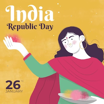 Hand drawn republic day
