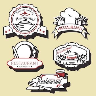 Ресторан логотип коллекции