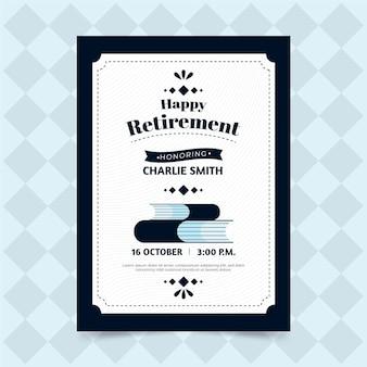 手描きの退職グリーティングカードテンプレート