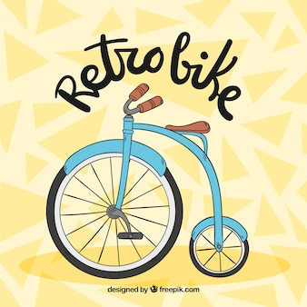 Hand drawn retro bicycle background