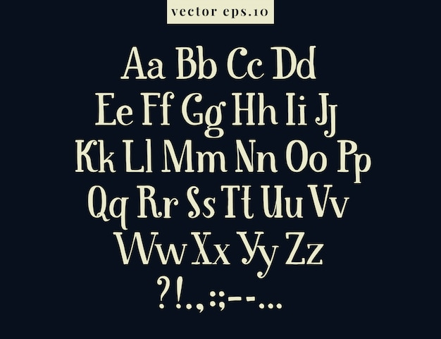 Hand drawn retro vector letters. drawing antique alphabet on chalk board.