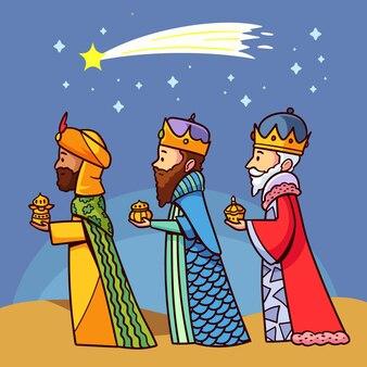 Giorno di reyes magos disegnato a mano
