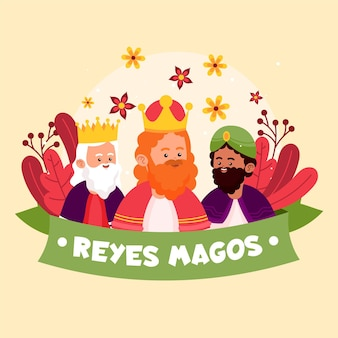 Hand drawn reyes magos