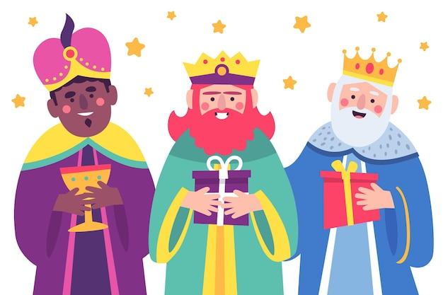 손으로 그린 reyes magos