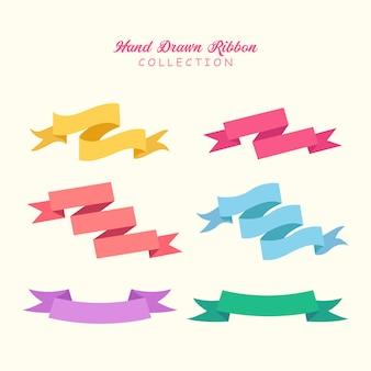 Hand drawn ribbon collection