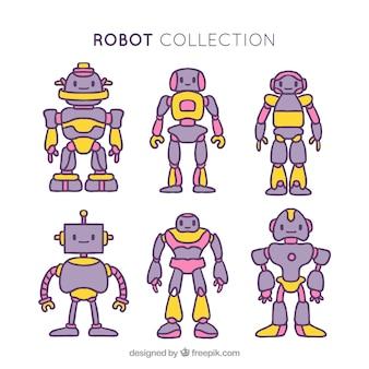 손으로 그린 로봇 컬렉션