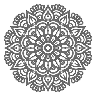 손으로 그린 라운드 원 추상적이 고 장식적인 개념에 대 한 아름 다운 만다라 그림