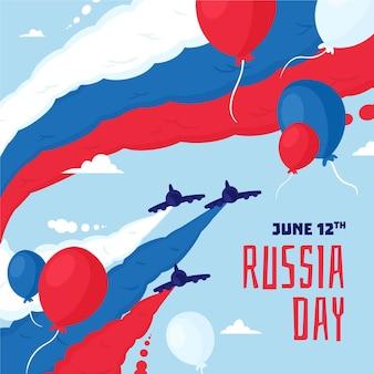 Illustrazione disegnata a mano di giorno della russia