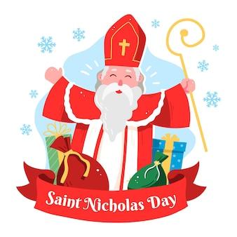 手描きの聖ニコラスの日の背景
