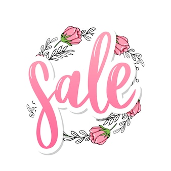 Hand drawn sale lettering sign