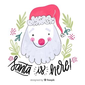 Hand drawn santa claus background
