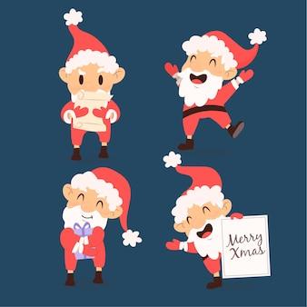Hand drawn santa claus character pack