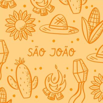 Hand drawn sao joao illustration