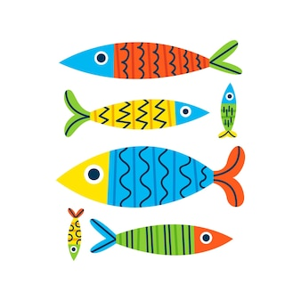 Hand drawn sardine illustration