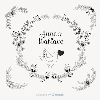 Hand drawn save the date invitation template