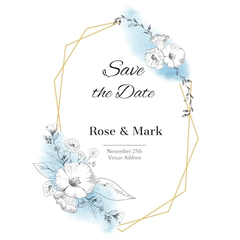 Hand drawn save the date